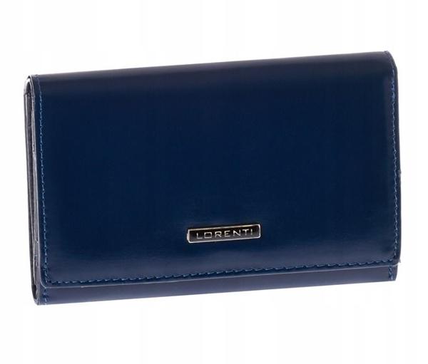 Tmavomodrá dámska kožená peňaženka 1001
