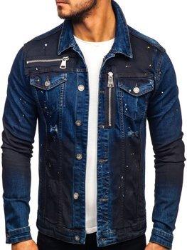 Tmavomodrá pánska rifľová bunda Bolf 5015