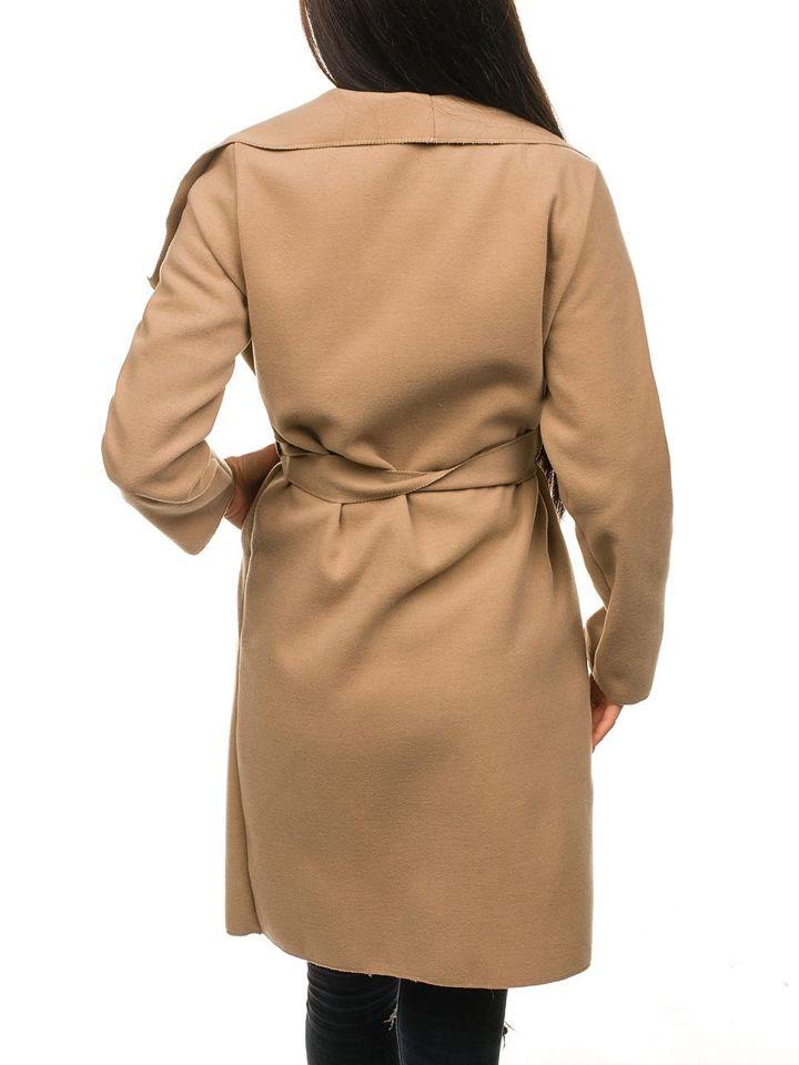 Béžový dámsky dlhý kabát BOLF 1729 2cc2ef7f0e9