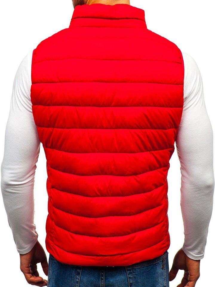 Červená pánska prešívaná vesta BOLF 1262 89b18363887