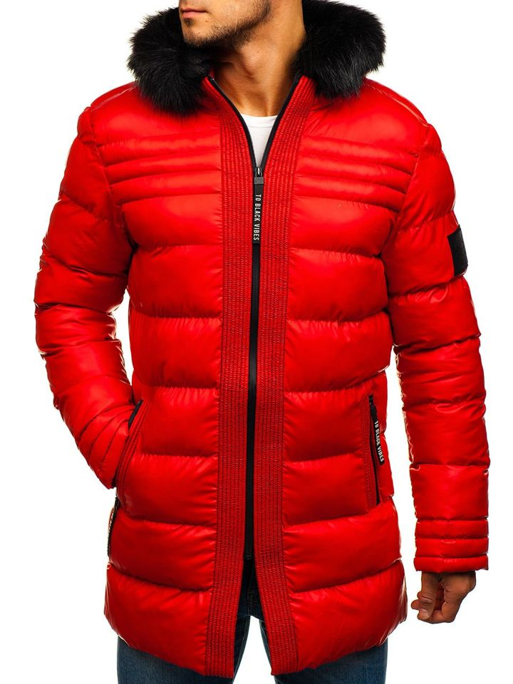 2e5f6ce96 Červená pánska zimná bunda BOLF 228