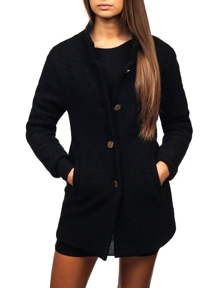 Čierny dámsky kabát BOLF 1950 542c8215ae8