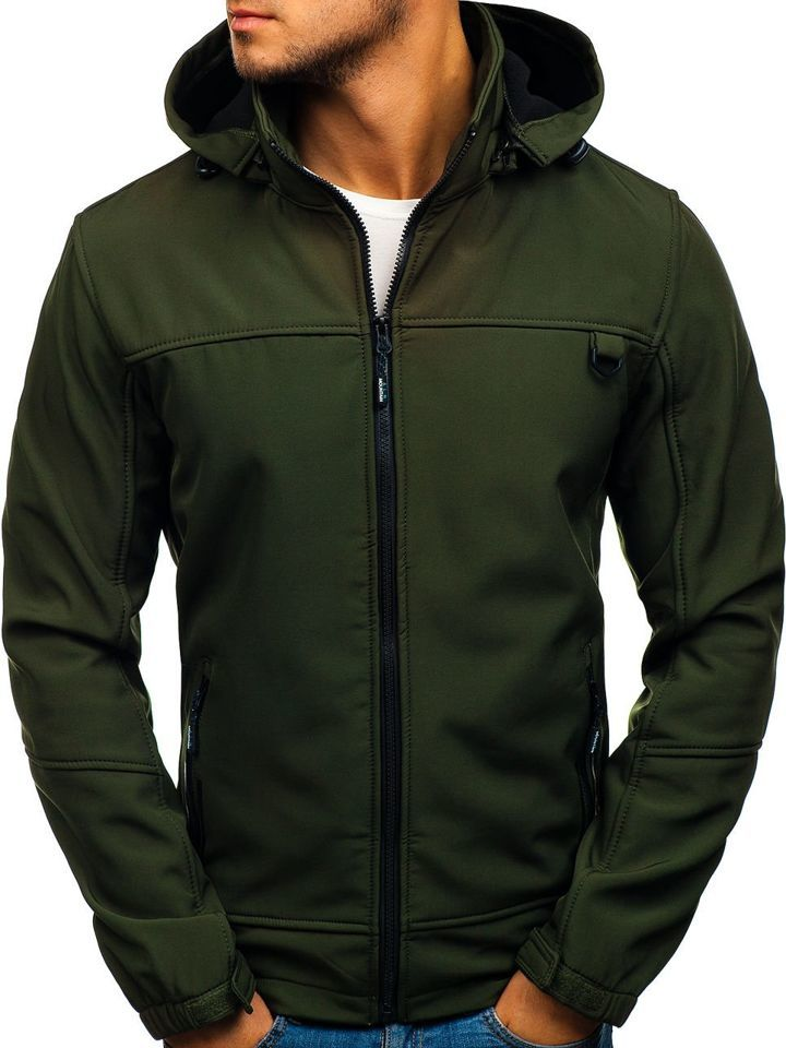 Zelená pánska softshellová prechodná bunda BOLF 82648 5adec595a4c