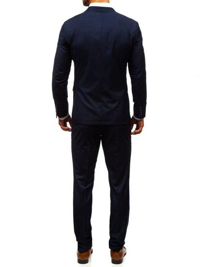 Atramentový pánsky oblek BOLF 19100