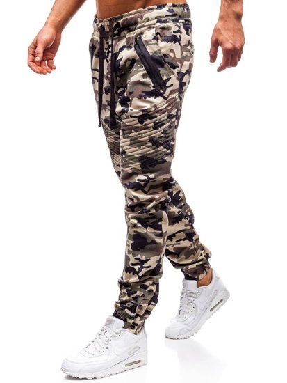 Béžové pánske jogger nohavice BOLF 0952
