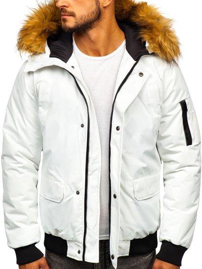 Biela pánska zimná bunda Bolf 2019