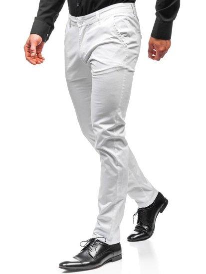 Biele pánske chinos nohavice BOLF 2901