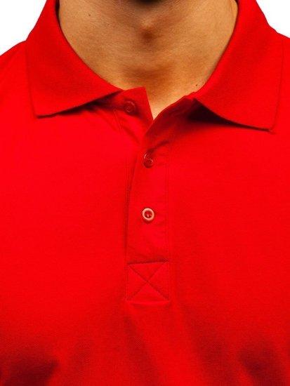 Červená pánska polokošeľa BOLF 171221