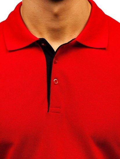 Červená pánska polokošeľa BOLF 171222-1