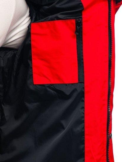 Červená pánska zimná bunda BOLF 201820
