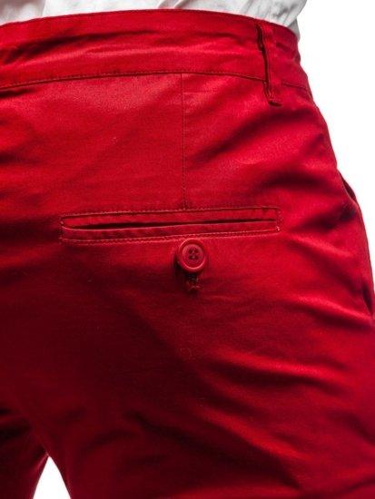 Červené pánske chinos nohavice BOLF 2901