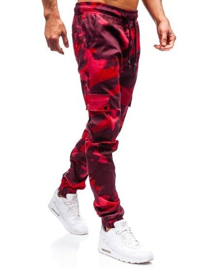 Červené pánske jogger nohavice BOLF 0858