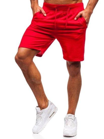 Červené pánske teplákové kraťasy Bolf AA10-A