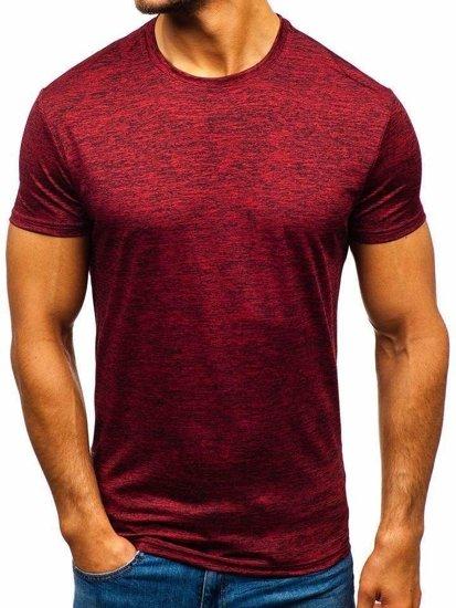 Červené pánske tréningové tričko bez potlače Bolf  S01