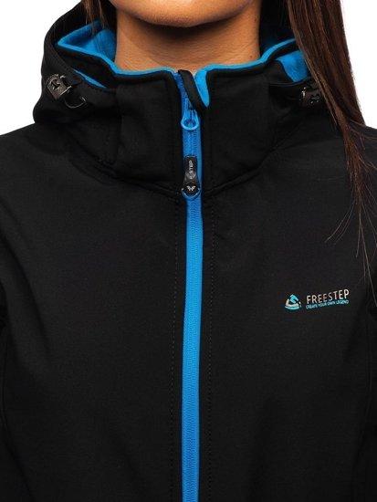 Čierna dámska softshellová prechodná bunda BOLF AB056