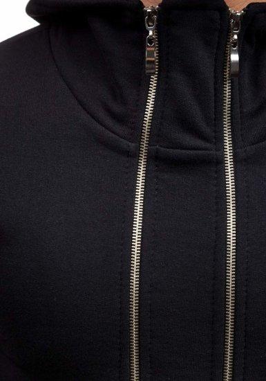 Čierna pánska mikina s kapucňou BOLF 13S-ZM