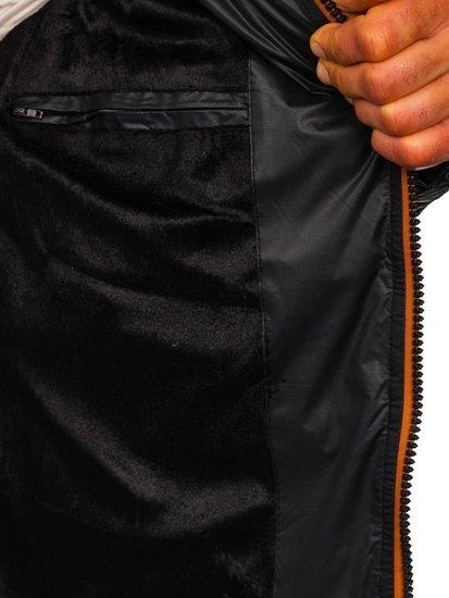 Čierna pánska prechodná bunda Bolf 5847