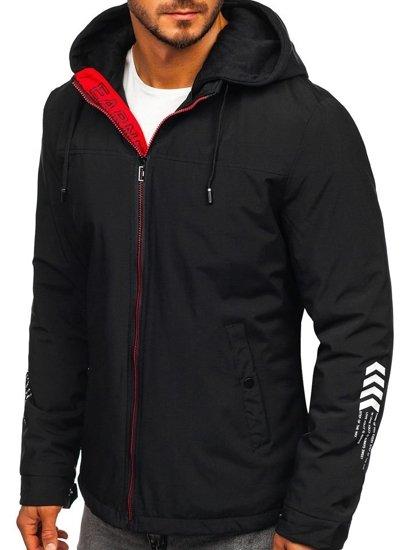 Čierna pánska prechodná bunda Bolf 5985