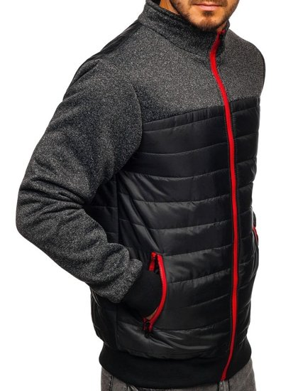 Čierna pánska prechodná bunda Bolf TY38