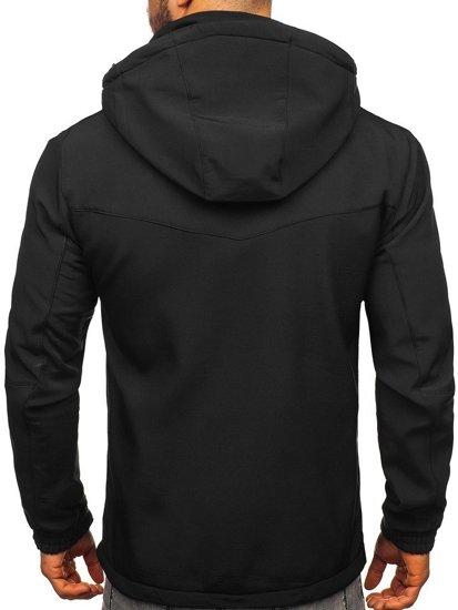 Čierna pánska softshellová bunda Bolf 12259