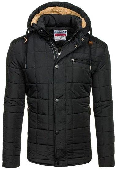Čierna pánska zimná bunda BOLF 1672