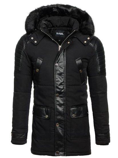 Čierna pánska zimná bunda BOLF 88852