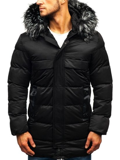 Čierna pánska zimná bunda BOLF 99113
