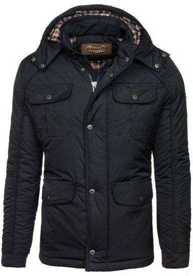 Čierna pánska zimná bunda Bolf 1350