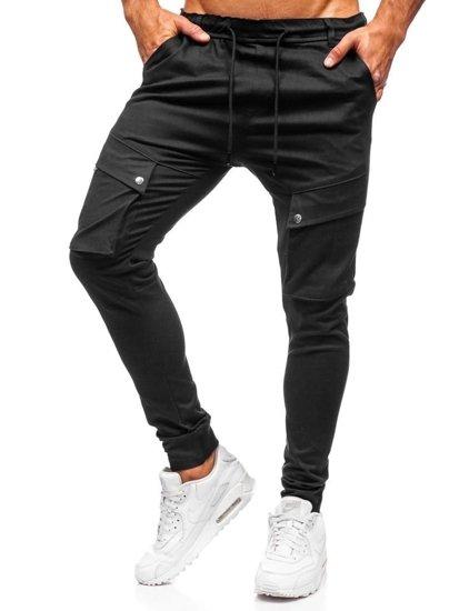 Čierne pánske kapsáčové joggery Bolf 1003