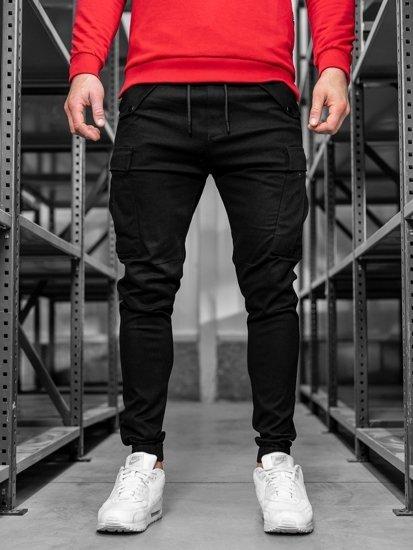 Čierne pánske kapsáčové joggery Bolf 1005