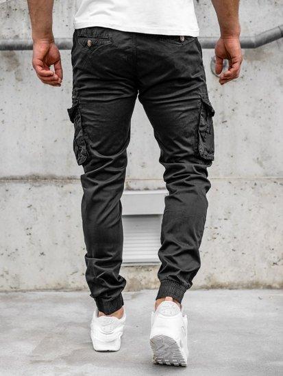 Čierne pánske kapsáčové joggery Bolf CT6702