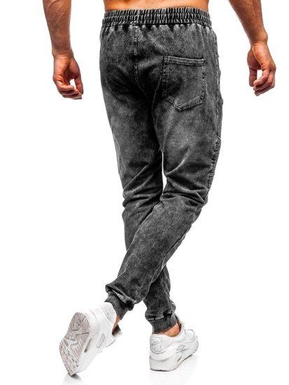 Čierne pánske rifľové joggery  Bolf KK1055
