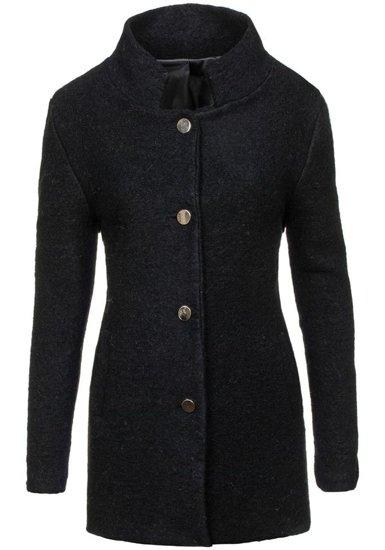 Čierny dámsky kabát BOLF 1950