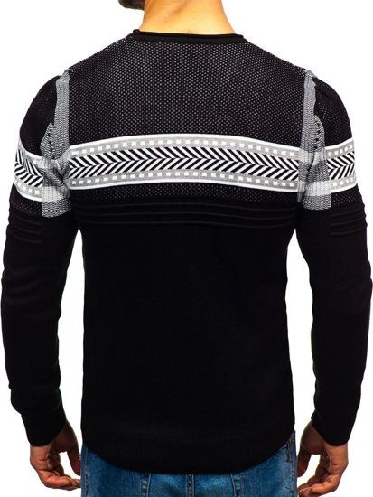 Čierny pánsky sveter BOLF 1016