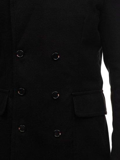 Čierny pánsky zimný kabát BOLF 1048