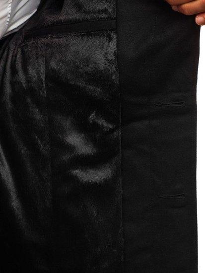 Čierny pánsky zimný kabát BOLF 5438