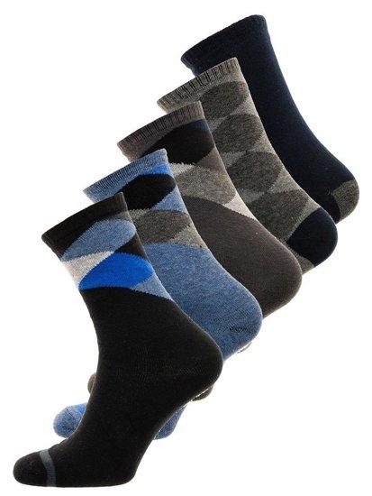 Farebné pánske ponožky BOLF X10074-5P 5 KS