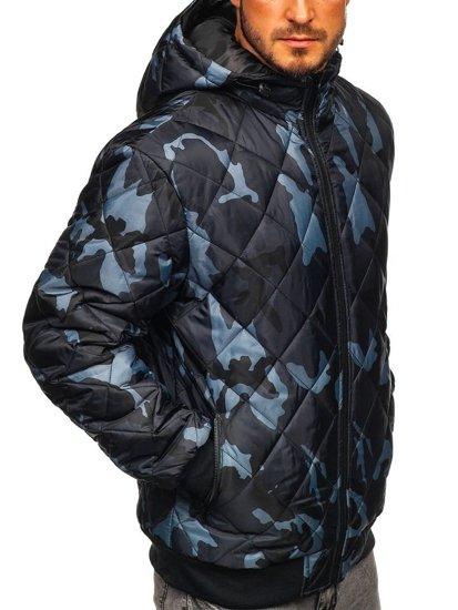 Grafitová maskáčová pánska športová prechodná bunda Bolf MY21M