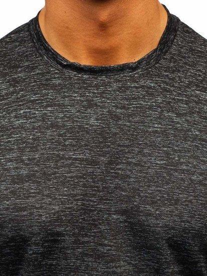 Grafitové pánske tričko bez potlače BOLF S01