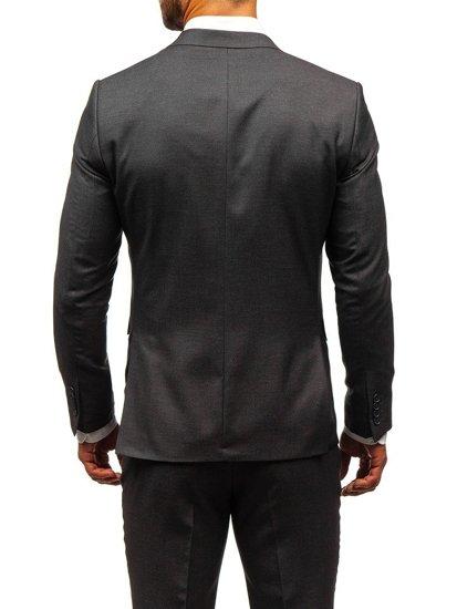 Grafitový pánsky oblek BOLF 19200-1