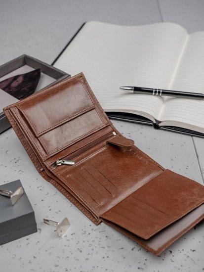 Hnedá pánska kožená peňaženka 3136