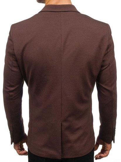 Hnedé pánske elegantné sako BOLF 192