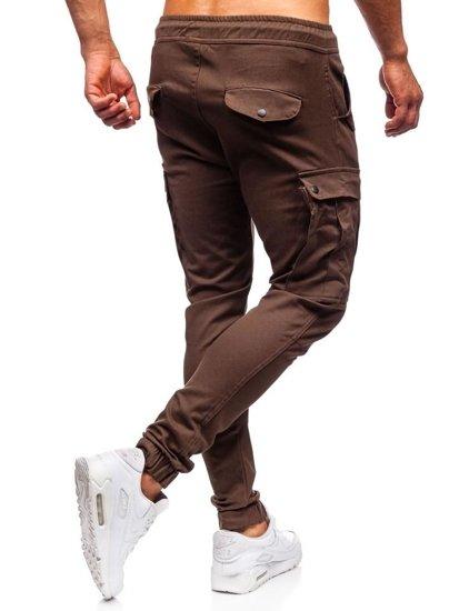Hnedé pánske kapsáčové joggery Bolf 1005