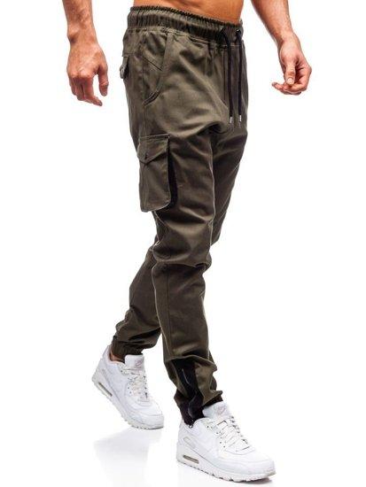 Kahki pánske kapsáčové joggery BOLF 0705