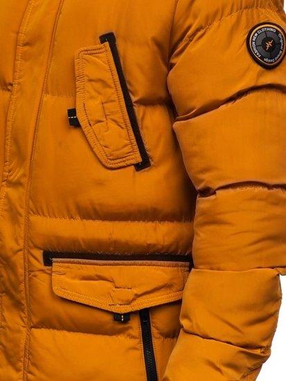 Kamelová pánska zimná bunda parka Bolf 5837