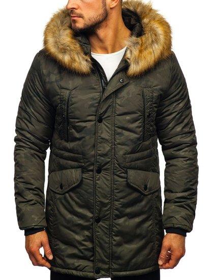 Khaki pánska zimná bunda parka Bolf  JK339