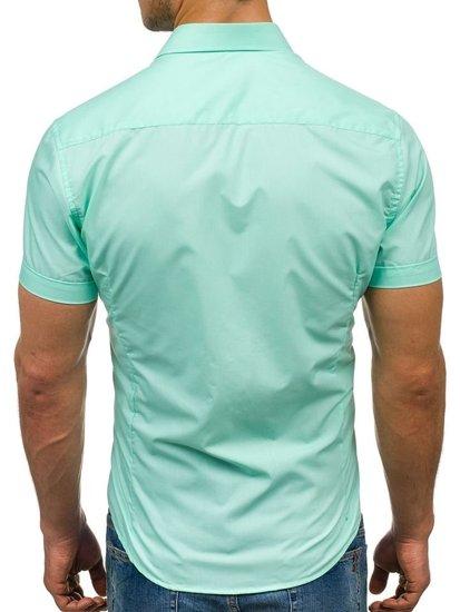 Mätová pánska elegantá košeľa s krátkymi rukávmi BOLF 7501