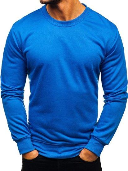 Modrá pánska mikina bez kapucne BOLF 22003