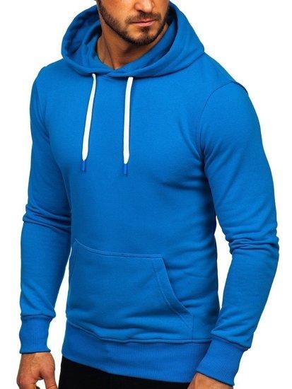 Modrá pánska mikina s kapucňou Bolf 1004