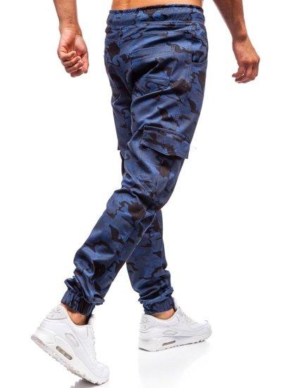 Modré pánske jogger kapsáče BOLF 0404